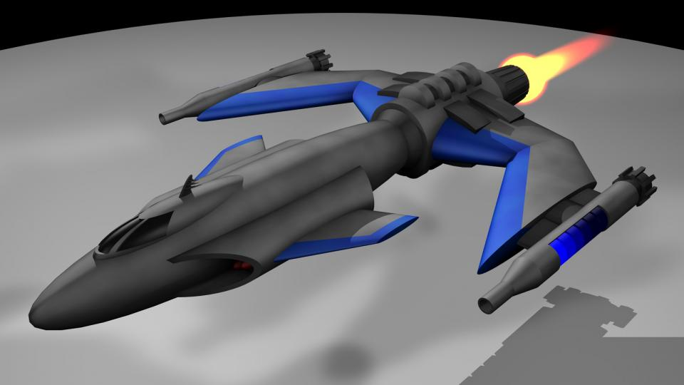 The Gunboat's purpose could be compared to the Rapier. While the Patrolships cleared the way of fighters, the Gunboats flew in to attack the larger ships with their missiles and heavy rockets. While not much bigger than a fighter, these ships were a serious threat to everything smaller than a Kestrel.