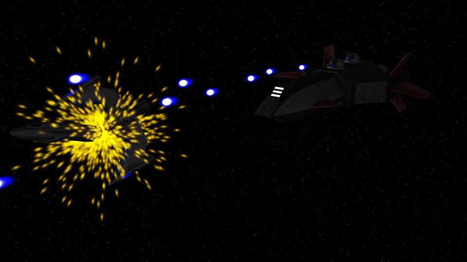 Although more powerful than a Kestrel, the Rebel Destroyer was still a freighter by heart. One alone could rarely match a Confederate Frigate, usually two had to team up to best one. That gave the Rebels a serious disadvantage in battle.