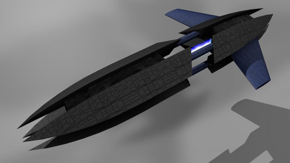 The Crescent Warship was smaller and more maneuverable than warships of more primitive races. It also was significantly more powerful. Carrying Crescent Fighters, phase turrets and seeker drones, the only species it was at a disadvantage against were the Voinians, as it had a hard time penetrating the thick Voinian armor.