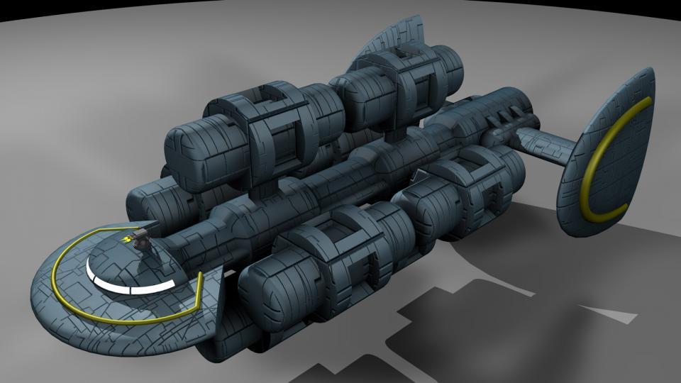 Dieses Schiff war eine größere Version des Miranu Freighter und besaß eine beeindruckende Frachtkapazität.