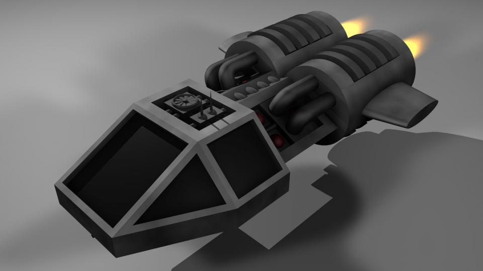Das Shuttlecraft war das Anfängerschiff des Spielers. Es war nicht viel mehr als ein Cockpit mit zwei Triebwerken. Seine Reichweite und Frachtkapazität waren sehr begrenzt, und es war mit einer einzigen Blazekanone bewaffnet.
