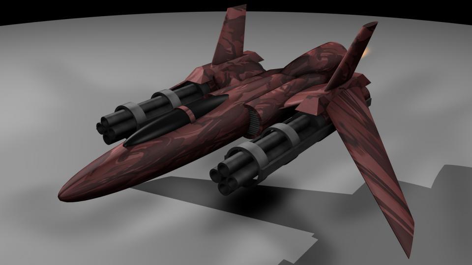 Der UE Fighter war das Arbeitstier der UE Navy. Bewaffnet mit schnellfeuernden Blazekanonen und voinianischen schweren Raketen bildete er die erste Verteidigungslinie der Menschen gegen Renegaten und Voinians.