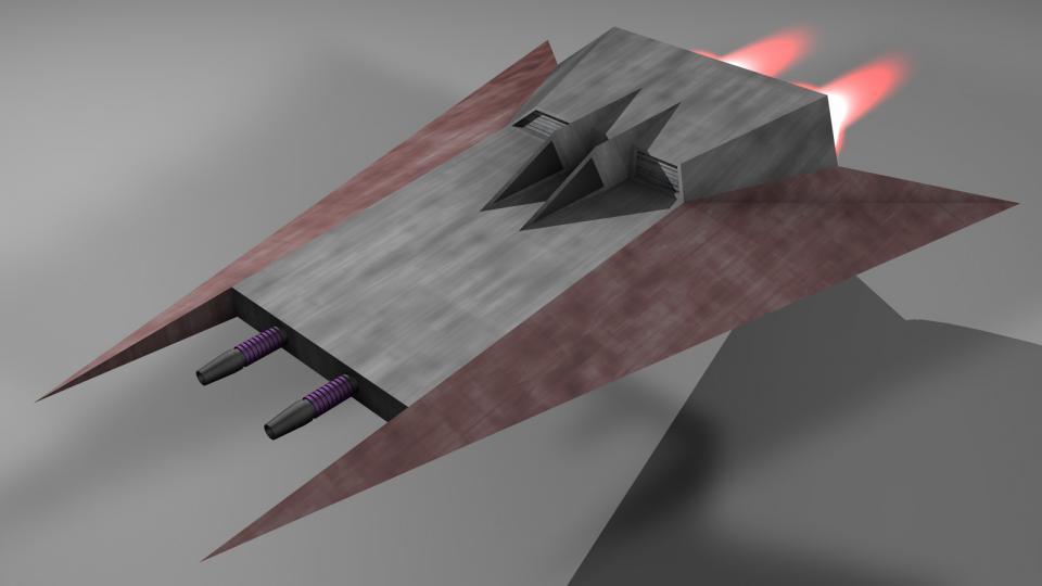 Der Heavy Fighter war das Arbeitstier der voinianischen Flotte. Zwar war er langsamer und weniger manövrierfähig als andere Jäger, dafür war er jedoch stärker bewaffnet und konnte mehr aushalten, als jeder andere Jäger im Spiel.