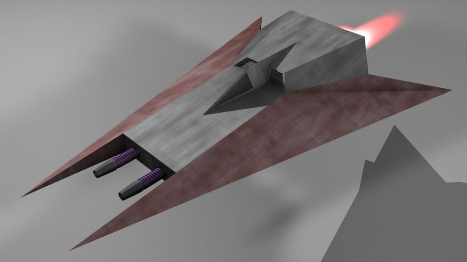 Der Interceptor war ein (für voinianische Begriffe) schneller Jäger, und für gewöhnlich das erste Schiff, das in den Kampf geschickt wurde.