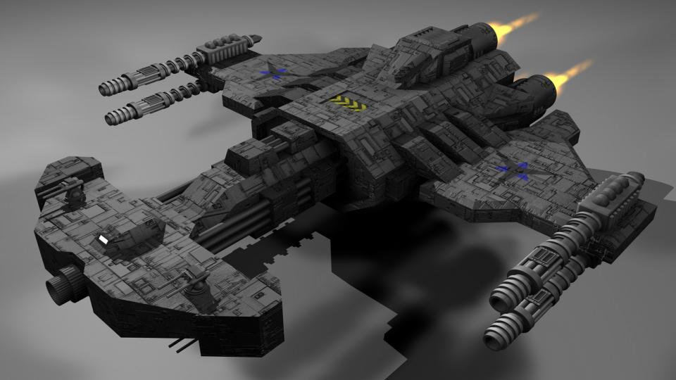 The Behemoth is the largest and most powerful Terran unit from the original StarCraft. This is a recreation of that ship. Created January 2005