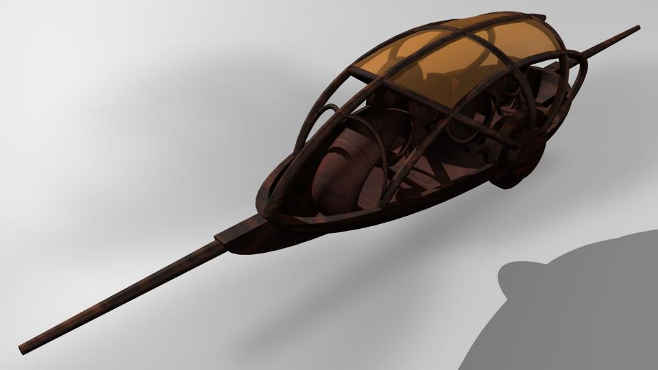 Das Exilan ist ein magisch angetriebenes Fluggerät, das von den Elfen auf Antaros verwendet wurde. Es wurde von einer Zeichnugn aus Myst III Exile inspiriert. Erstellt April 2008