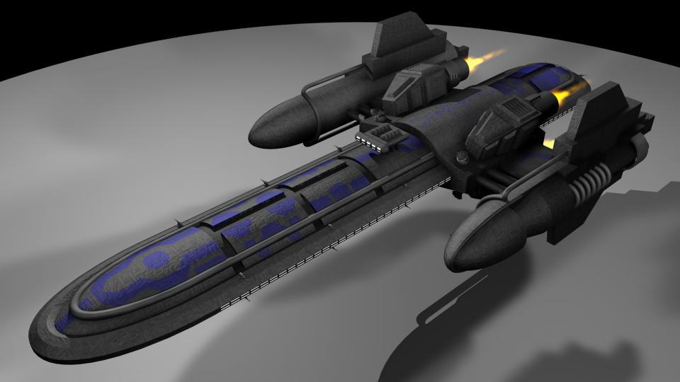 Die Freefall-Klasse ist ein nichtmodularer Frachter. Ich benutzte dieses Schiff als Donaan Frachter in meinem EVN-TC Dark Swarm, der leider nie beendet wurde. Erstellt November 2004