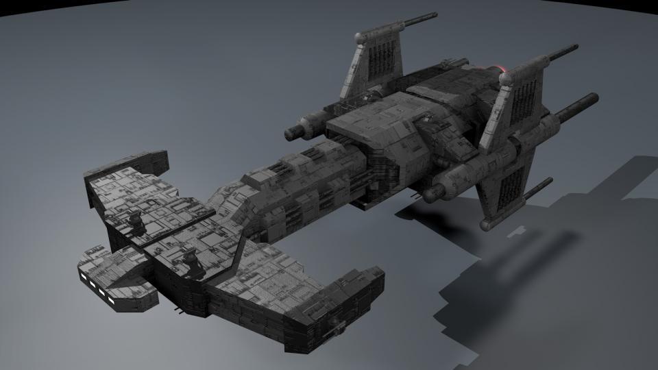Dieses einfache Modell ist das Ergebnis einer spontanen Inspiration. Es ist zwar nicht sehr detailliert, ich mag es aber trotzdem. Es hat etwas Stargate-artiges. Erstellt Mai 2013