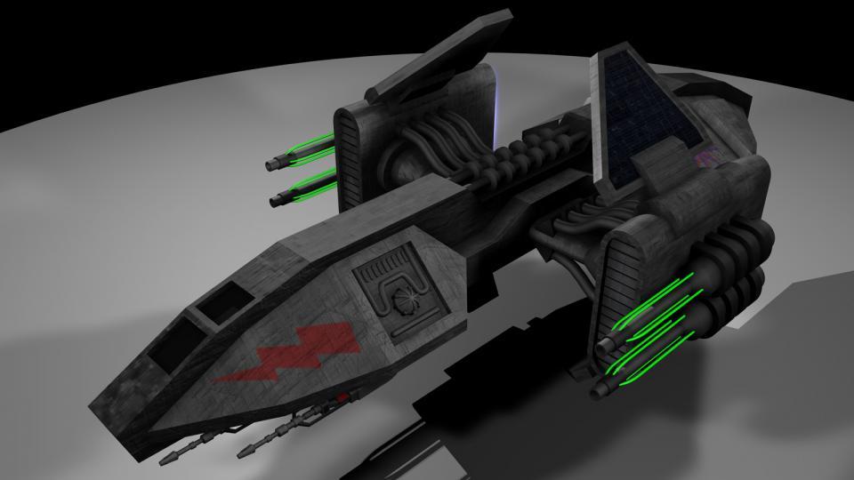 Der Helian kommt ursprünglich aus meinem EVN-TC Dark Swarm. Er ist ein Bergbauschiff der Tycho Brahe. Die großen Kanonen an der Seite sind Plasmakanonen. Sie sind im Kampf nicht sehr effektiv, können aber weniger dichte Materie, wie Fels, leicht zerstören. Erstellt Juni 2004