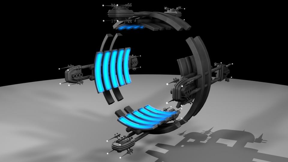 Hyperraumtore bilden eine Verbindung zu entfernten Gegenden der Galaxis. Während normales Reisen mit Überlichtgeschwindigkeit Wochen oder Monate dauern würde, ist die Verbindung zwischen zwei Hyperraumtoren so schnell, dass dieselbe Distanz binnen Minuten, oder maximal Stunden, passiert werden kann. Erstellt Juli 2009