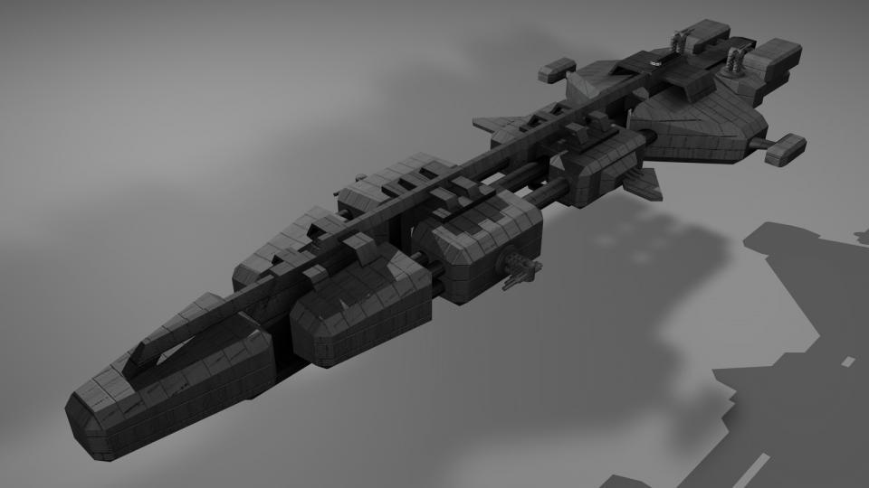 Die Mammoth ist ein großer Frachter. Sie wurde von einen Schiff aus EVE Online inspiriert. Erstellt 2008