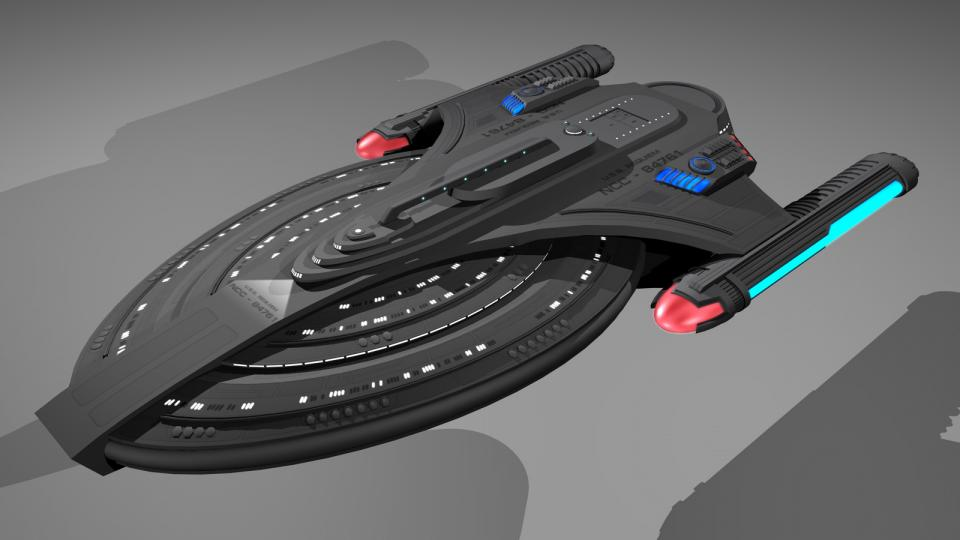 The Monsoon-class was the first StarTrek ship I created. It was designed for long-term missions in space and is even larger than a Sovereign-class. Created May 2009
