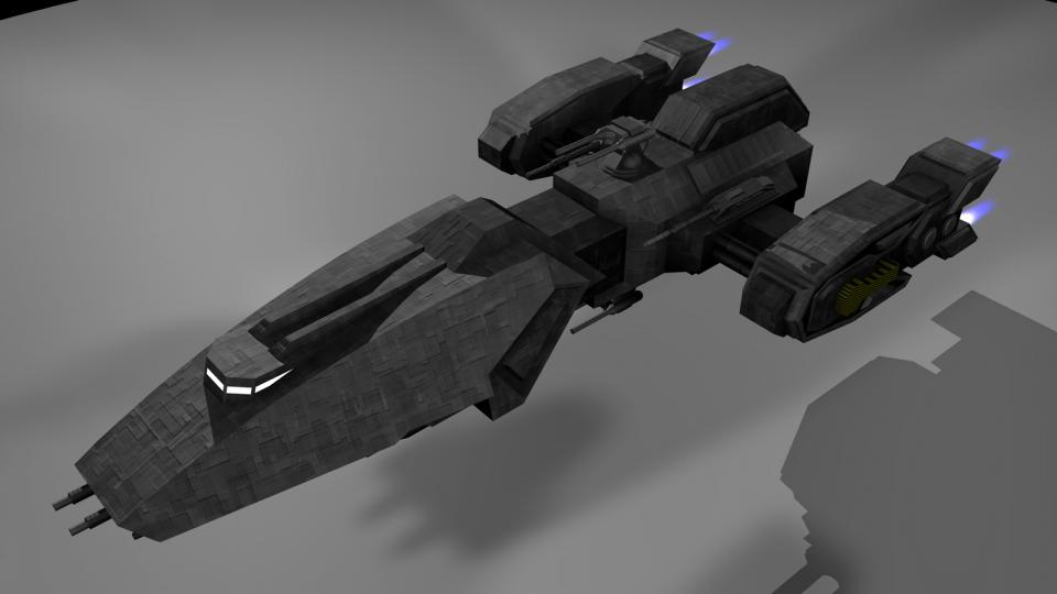 Dieses Schiff wurde von einem Schiff aus X2: Die Bedrohung inspiriert. Erstellt Juli 2006