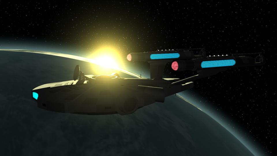 Ursprünglich wollte ich der Sakura-Klasse Gondeln geben, ähnlich denen der umgerüsteten Enterprise. Am Ende habe ich mich jedoch entschieden, ein eigenes Design zu verwenden, das von den Triebwerken eines Y-Wings inspiriert wurden.