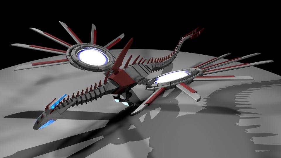 Sentinel wurde von der Serie Bakkugan inspiriert. Ich habe nur ein paar Episoden gesehen, aber in einer gab es diesen riesigen Mechadrachen. Ich musste einfach eine eigene Version erstellen. Das Modell lag jahrelang auf meiner Platte, bis ich es endlich fertigstellen konnte. Erstellt Mai 2013