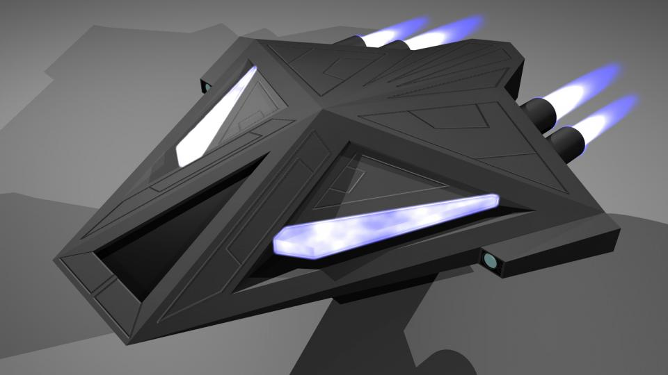 The Seraphim was created by the Techno Mages to battle the cybernetic ships of the Sanguir. They are fast, maneuverable and sport two powerful ion cannons, capable of disabling the electronics of a Sanguir ship, effectively disabling them. Created January 2011, although the original model is older.