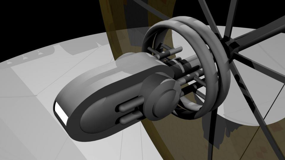 Das Brückenmodul einer Highlighter kann abgedockt werden. Es dient als Landemodul und Rettungskapsel.