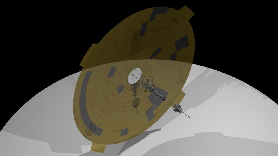 Die Spire ist ein ziviles Schiff der Ith'hijori, und eine der schnellsten Schiffsklassen, die sie haben. Anders als die Aurora verwendet sie ein spezielles Gewebe für ihr Solarsegel, und hat keine Triebwerke. Die Ansammlung aus Ringen bilden einen extrem mächtigen Bussardantrieb. Erstellt Mai 2011