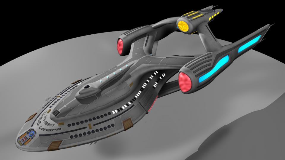Nachdem Dr. Lenara Kahn vom Trill Wissenschaftskonsortium erfolgreich das erste künstliche Wurmloch erschaffen hatte, war das Projekt Starbridge geboren. Die Starbridge ist das erste Schiff, das einen Wurmlochantrieb verwendet. Sie ist weiter gereist als jedes andere Sternenflottenschiff vor ihr. Erstellt März 2011