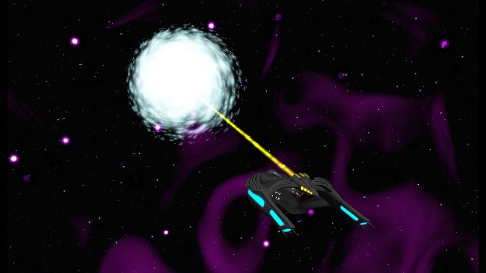 Die Starbridge projiziert einen Magnetonpuls und aktiviert eine Subraum-Tensormatrix. Dies erzeugt einen Riss im Subraum, der sich zu einem stabilen Wurmloch entwickelt. Für mehr Bilder und Geschichten über die U.S.S. Lenara, das erste Schiff der Starbridge-Klasse, besucht mein Deviantart-Konto.