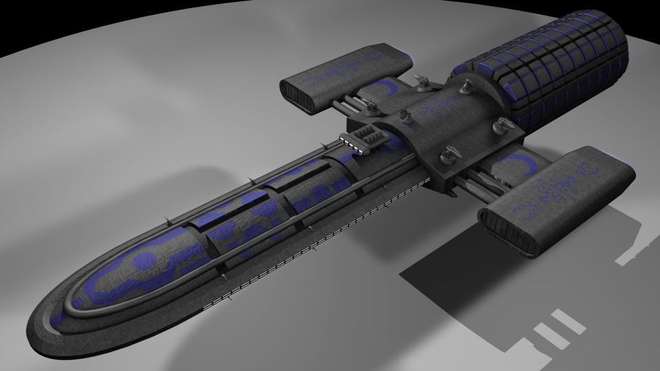 Die Stardust ist ein riesiges Schiff. Es ist nicht nur ein Bergbauschiff, sondern auch eine Erzverarbeitungsfabrik. Das Erz wird raffiniert, komprimiert und in der rotierenden Frachtsektion am Heck gelagert. Es ist außerdem das Mutterschiff für Bergbaudronen, die kleinere Erzvorkommen abbauen, welche die Verwendung von Bergbaulasern nicht rechtfertigen. Erstellt Mai 2011