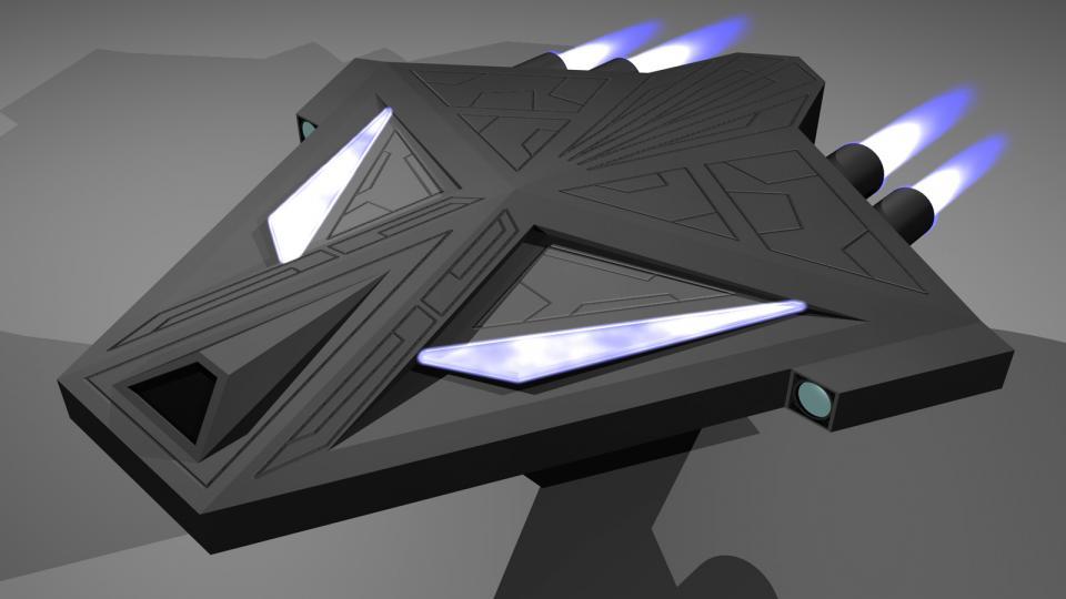 Während die Seraphim entwickelt wurde, um Jäger der Sanguir zu attackieren, sollte die Thaumiel sich um ihre größeren Schiffe kümmern. Sie ist faktisch eine größere und stärkere Version der Seraphim. Erstellt Januar 2011, obwohl das Originalmodell älter ist.